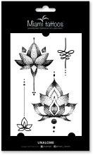Духи, Парфюмерия, косметика Черные переводные тату - Miami Tattoos Unalome