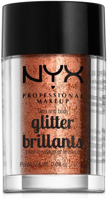 Глиттер для лица и тела - NYX Professional Makeup Face & Body Glitter