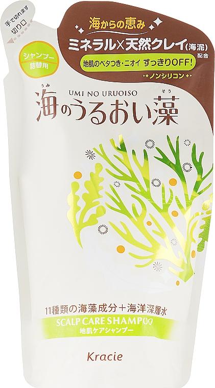 Шампунь увлажняющий с экстрактами морских водорослей и минералами сменный блок - Kracie Umi No Uruoi Sou Shampoo EX Pack