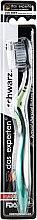 Духи, Парфюмерия, косметика Зубная щетка с черной угольной щетиной, супермягкая, зеленая - Das Experten