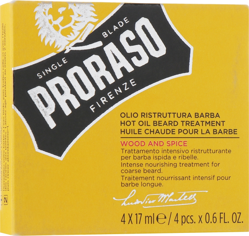 Масло для бороды - Proraso Wood and Spice Hot Oil Beard Treatment