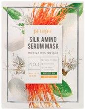 Парфумерія, косметика Маска для обличчя з протеїнами шовку - Petitfee Silk Amino Serum Mask