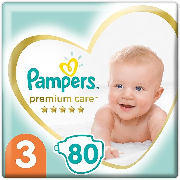 Подгузники Pampers Premium Care Размер 3 (6-10 кг), 80 шт - Pampers