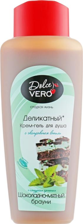 """Крем-гель для душа """"Шоколадно-мятный брауни"""" - Dolce Vero"""