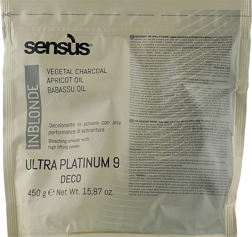 Обесцвечивающая пудра 9 тонов - Sensus InBlonde Deco Ultra Platinum 9 Bleaching Powder