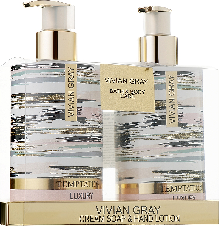 Набор - Vivian Gray Temptation (cr/soap/250ml + h/lot/250ml)