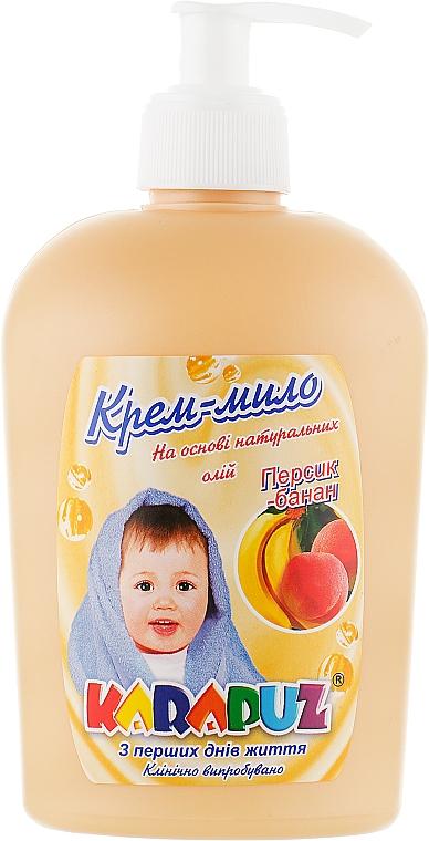 "Крем-мыло ""Персик-банан"" - Карапуз"