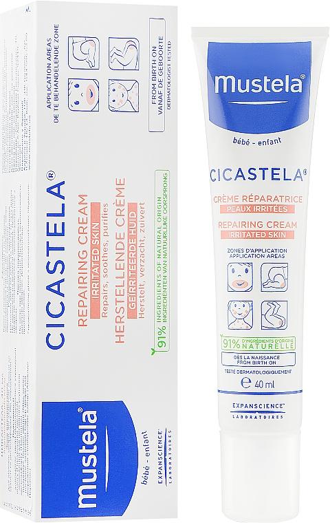 Восстанавливающий крем для раздраженной кожи - Mustela Cicastela Repairing Cream Irritated Skin