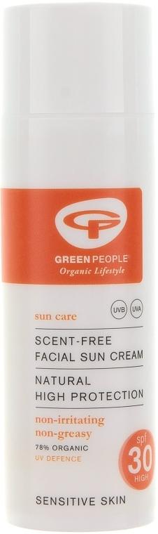 Солнцезащитный крем для лица без запаха - Green People Facial Sun Cream SPF30