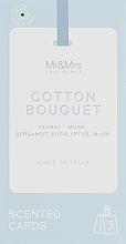 Духи, Парфюмерия, косметика Набор - Mr&Mrs Fragrance Tags Mr. Drawers Set № 81 Cotton Bouquet (3 x tags)