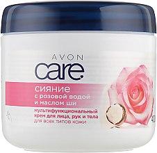 Духи, Парфюмерия, косметика Крем для рук, лица и тела с розовой водой и маслом ши - Avon Care Radiant Rosewater & Shea Butter Multipurpose Cream