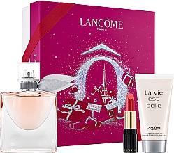 Духи, Парфюмерия, косметика Lancome La Vie Est Belle - Набор (edp/50ml + b/lot/50ml+lipstick/1.6g)