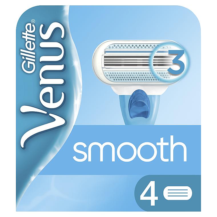 Сменные кассеты для бритья, 4 шт. - Gillette Venus Smooth