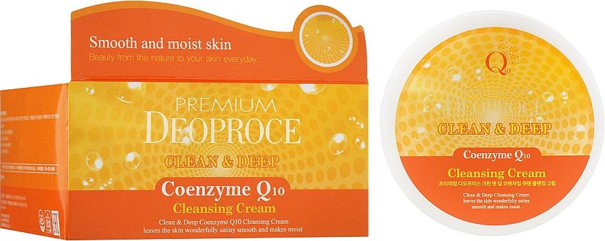Очищающий крем для лица с коэнзимами Q10 - Deoproce Premium Clean & Deep Coenzyme Q10 Cleansing Cream