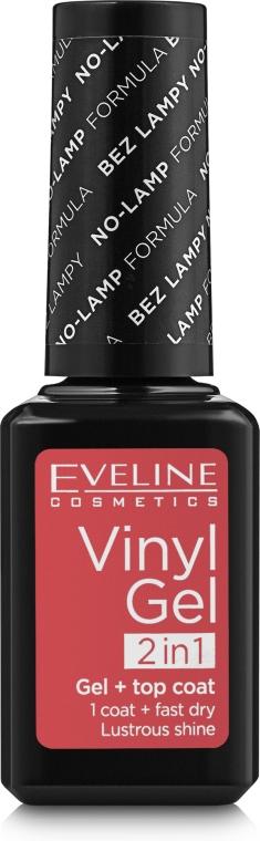 Виниловый гелевый лак для ногтей 2 в 1 - Eveline Cosmetics Vinyl Gel Top Coat 2 In1