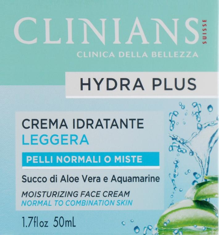 Крем для лица ежедневный - Clinians Hydra Plus Crema Idratante Leggera