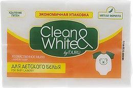Духи, Парфюмерия, косметика Хозяйственное мыло для стирки детских вещей в экономичной упаковке - Clean&White By Duru