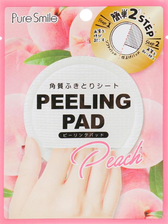 Пилинг-диск для лица с экстрактом персика - Pure Smile Peeling Pad