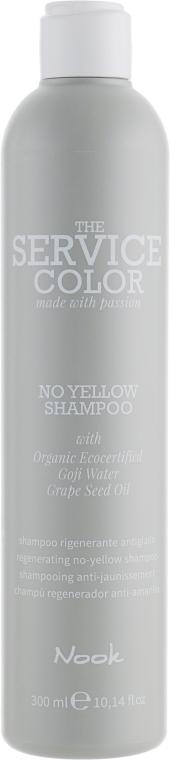 Шампунь от желтизны - Nook The Service Color No Yellow Shampoo