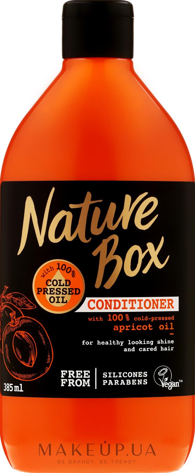 Кондиционер для волос с абрикосовым маслом - Nature Box Apricot Oil Conditioner — фото 385ml