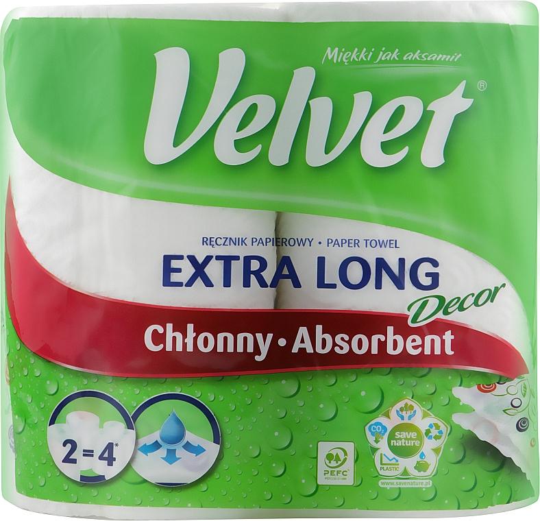 Полотенце бумажное, двухслойное, 2 рулона - Velvet Extra Long Decore