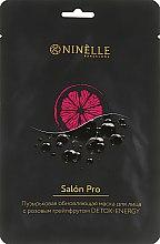 Духи, Парфюмерия, косметика Обновляющая пузырьковая маска для лица с розовым грейпфрутом - Ninelle Salon Pro Detox-Energy