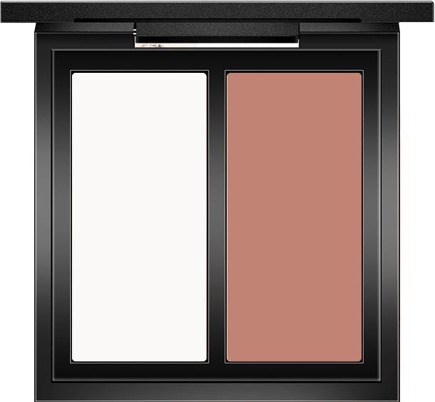 Пудра для контурирования лица - O.TWO.O Double Color Contour Palette Perfect Naked Shading Powder