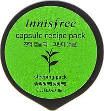 Духи, Парфюмерия, косметика Мини-маска на основе зеленого чая - Innisfree Capsule Recipe Pack Green Tea
