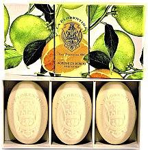Духи, Парфюмерия, косметика Набор мыла - La Florentina Agrumi Di Boboli Citrus Natural Tuscan Soaps