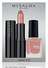 Духи, Парфюмерия, косметика Набор - Mesauda Milano I Want You Kit (lipstick/3.5g + nail polish/10ml)