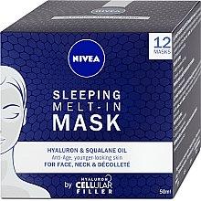 Духи, Парфюмерия, косметика Ночная маска для лица - Nivea Cellular Filler Sleeping Melt-In Mask