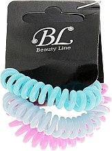 Духи, Парфюмерия, косметика Набор резинок для волос, 405004, голубая+голубая+голубая - Beauty Line