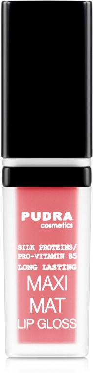 Матовый блеск для губ - Pudra Cosmetics Maxi Matt Lip Gloss