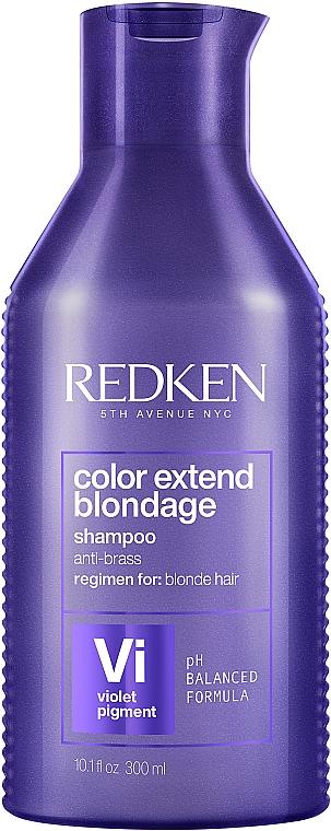 Шампунь для нейтрализации желтизны светлых волос - Redken Color Extend Blondage Shampoo
