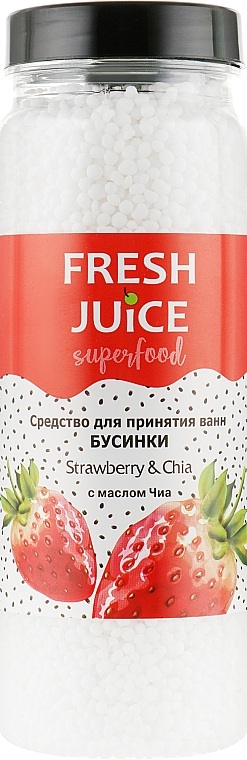 "Средство для ванн ""Клубника и Чиа"" - Fresh Juice Superfood Strawberry & Chia"