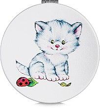 Духи, Парфюмерия, косметика Зеркало косметическое круглое, котенок с божьей коровкой - Lily Cosmetics