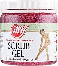 Духи, Парфюмерия, косметика Гель-скраб для ног с экстрактом граната - My Nail Scrub Gel Garnet