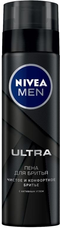 """Пена для бритья """"Ultra"""" с активным углем - Nivea Men"""
