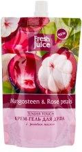 """Духи, Парфюмерия, косметика Крем-гель для душа """"Мангостин и Розовые Лепестки"""" - Fresh Juice Tender Touch Mangosteen & Rose Petals (дой-пак)"""