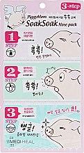 Духи, Парфюмерия, косметика 3-шаговая маска для избавления от черных точек - Mediheal PiggyMom SoakSoak Nose-Pack