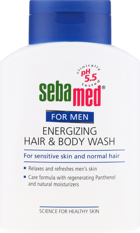 Гель для душа - Sebamed Men Energizing Hair & Body Wash — фото N2