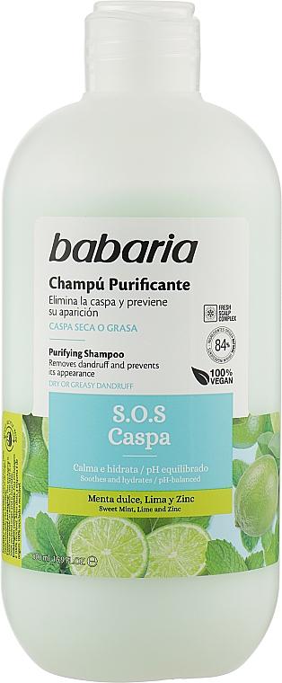 Шампунь для волос против перхоти - Babaria S.O.S Caspa Shampoo