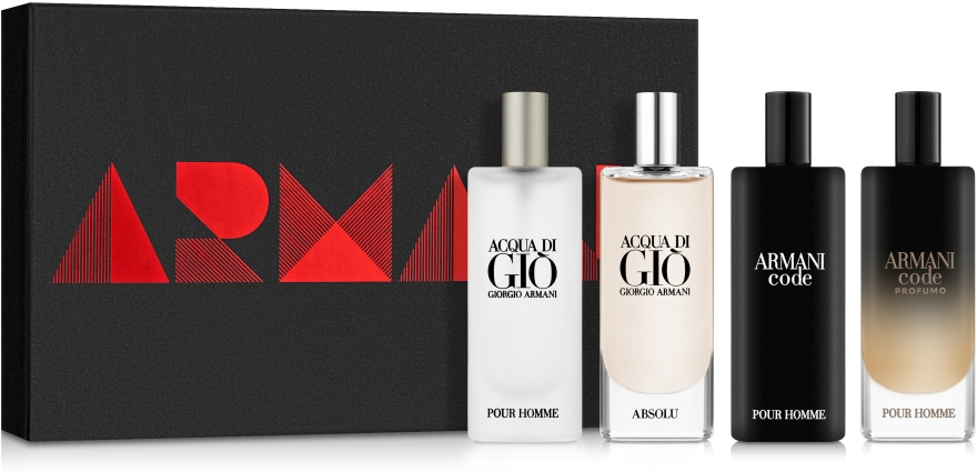 Giorgio Armani Travel Set - Набор (edt/15ml + edp/15ml + edt/15ml + edp/15ml)