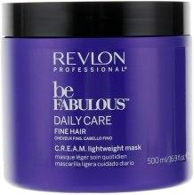 Духи, Парфюмерия, косметика Маска для тонких волос - Revlon Professional Be Fabulous C.R.E.A.M. Lightweight Mask