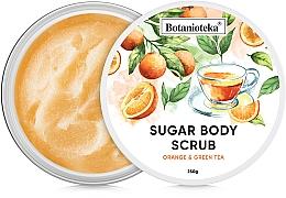 """Духи, Парфюмерия, косметика Сахарный скраб для тела """"Апельсин и зеленый чай"""" - Botanioteka Sugar Body Scrub Orange & Green Tea"""