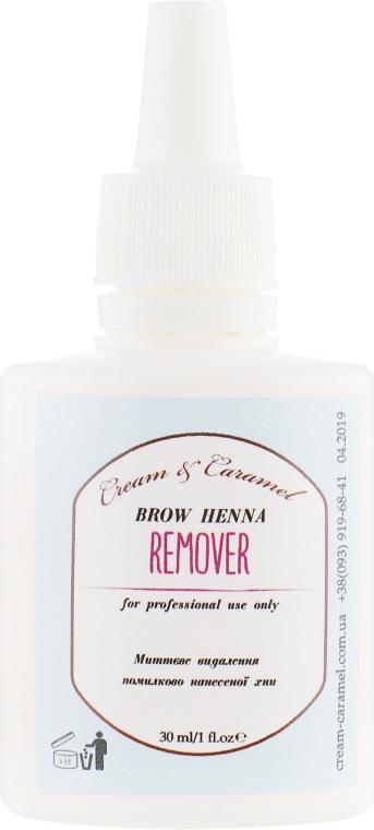 Ремувер для хны - Cream & Caramel Brow Henna Remover