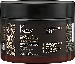 Духи, Парфюмерия, косметика Увлажняющая маска для волос - Kezy Incredible Oil Hydrating Mask
