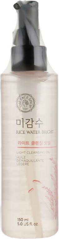 Гидрофильное масло с экстрактом риса для жирной и проблемной кожи - The Face Shop Rice Water Bright Cleansing Light Oil