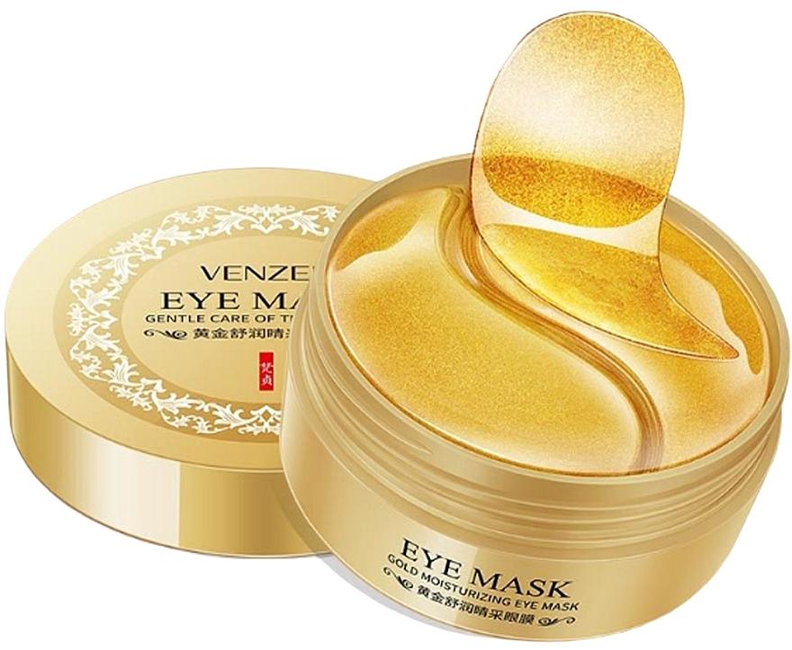 Гидрогелевые патчи с коллоидным золотом и спирулиной - Venzen Gold Moisturizing Eye Mask