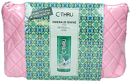 Духи, Парфюмерия, косметика C-Thru Emerald Shine - Набор с розовой косметичкой (edt/50ml + bag)